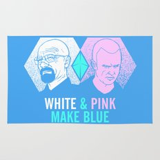 WHITE & PINK MAKE BLUE Rug