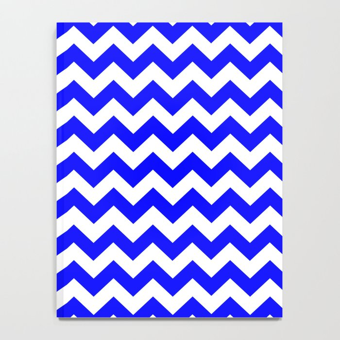 Chevron (Blue/White) Notebook