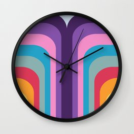 Retro Rainbow 02 Wall Clock