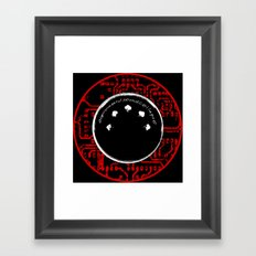 environmental sound collapse - MIDI/circuit board Framed Art Print