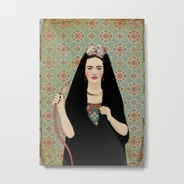 Frida & the Shisha Metal Print