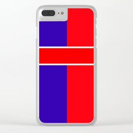 Team colors 6...red,blue Clear iPhone Case