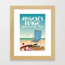 Argelès Plage, Argelès-sur-Mer, France Framed Art Print