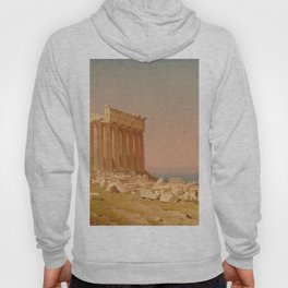 Ruins of the Parthenon Oil Painting by Sanford Robinson Gifford Hoody