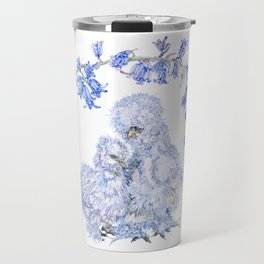 Silkie Chickens and Bluebells Travel Mug