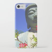 buddah iPhone & iPod Cases featuring Buddah Serenity by Magmata