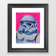 stormtrooper baby Framed Art Print