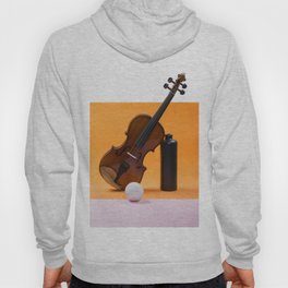 Still-life with a violin, a ball and a dark bottle Hoody