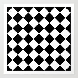 Diamond Black & White Art Print