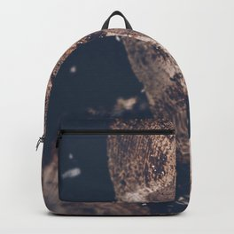 Crying tree trunk with resin, dark moody fine art photography Backpack