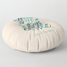 Shackleton quote on difficulties, illustration, interior design, wall decoration, positive vibes Floor Pillow
