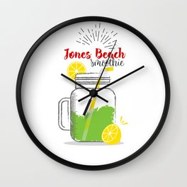 Jones Beach: Summer, sun, sea & smoothies Wall Clock