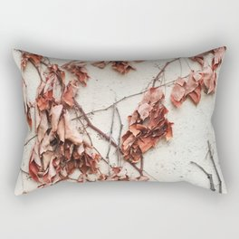Dead Vine Climbing a Stucco Wall Rectangular Pillow