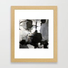 Buoyant in Black and White Framed Art Print