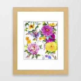 Gather Roses Framed Art Print