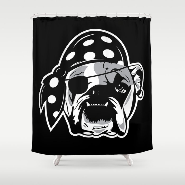 Pirate Shower Curtain Part - 20: Pirate Dog Shower Curtain
