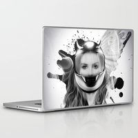 harley Laptop & iPad Skins featuring harley girl by mark ashkenazi