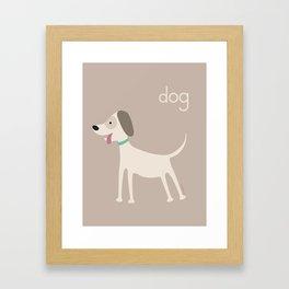 D for Dog Framed Art Print