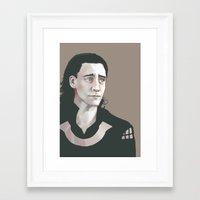 tom hiddleston Framed Art Prints featuring Loki (Tom Hiddleston) by xephia