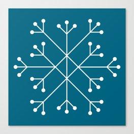 Mod Snowflake Teal Canvas Print