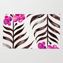 Blooming Orchid – Magenta & Black Palette Rug