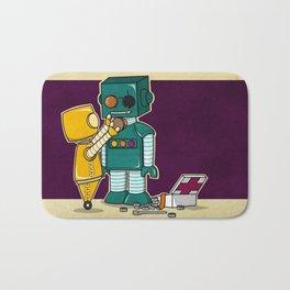 Robots on Friendship Bath Mat