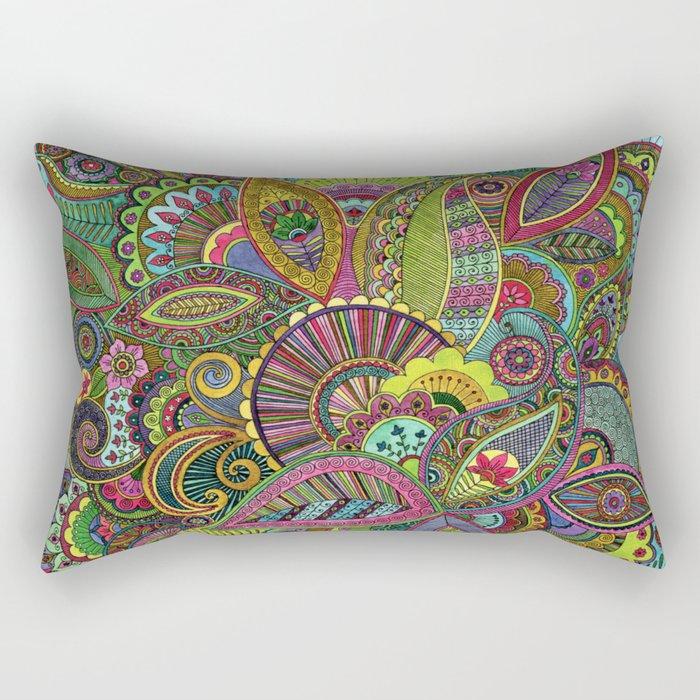 Evie's Garden Paisley Rectangular Pillow