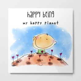My Happy Planet Metal Print