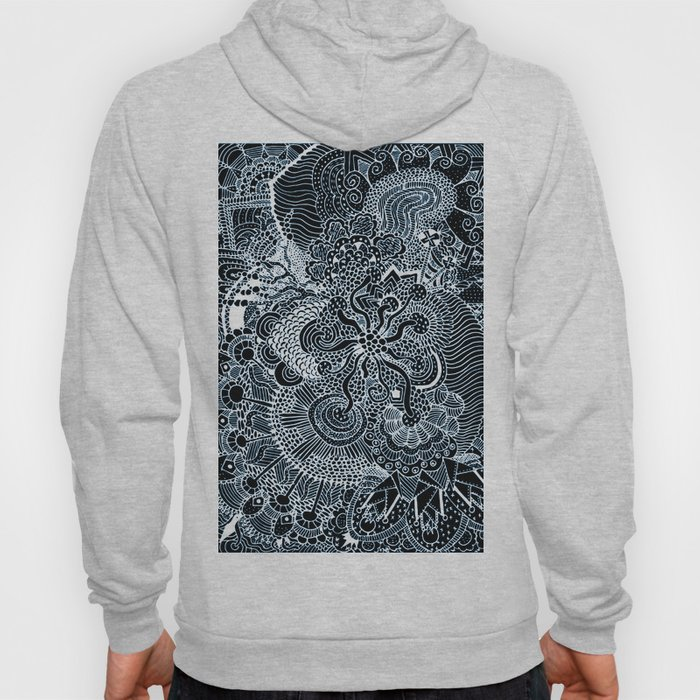 Black and White Tangled Hoody