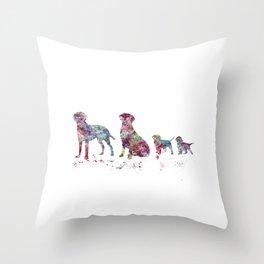 Labrador family Throw Pillow