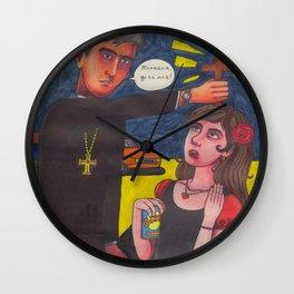 Preachy Preach Wall Clock