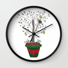 12 Days of Christmas Partridge in a Pear Tree Wall Clock