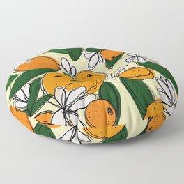 Oranges in Bloom Floor Pillow