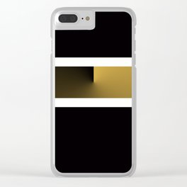 Team Colors 3....Gold, black white Clear iPhone Case
