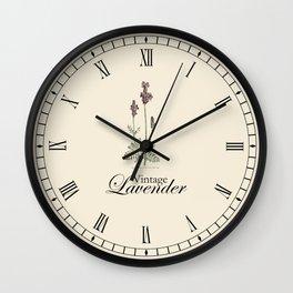 Lavender Clock Wall Clock