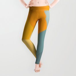 Abstract Mountain Sunrise Leggings