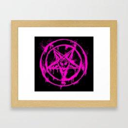 Pink Pentagram Framed Art Print