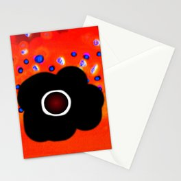 Hole and black flower Stationery Cards