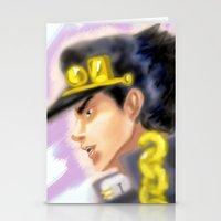 jjba Stationery Cards featuring Jotaro Kujo JJBA by Pruoviare