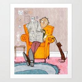 The Cat Lover Art Print