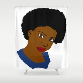 Love Your Beautiful Afro Natural Hair Shower Curtain