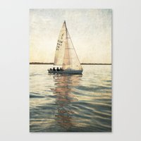 sailing Canvas Prints featuring Sailing by Mary Kilbreath