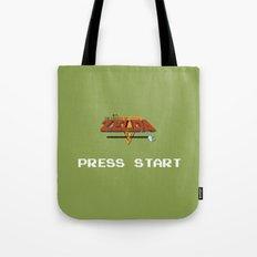 Zelda press start Tote Bag