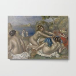 Bathers Playing with a Crab Metal Print