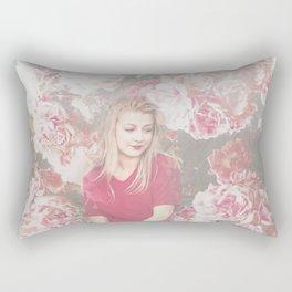 woman rose Rectangular Pillow