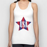 usa Tank Tops featuring USA by Caio Trindade