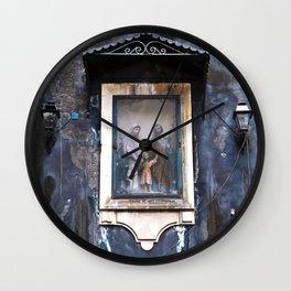 Sicilian Facade of CATANIA Wall Clock