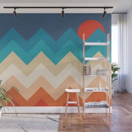 Vintage 70s Adventure on the Mountains Wall Mural