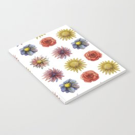 flowers all over Notebook