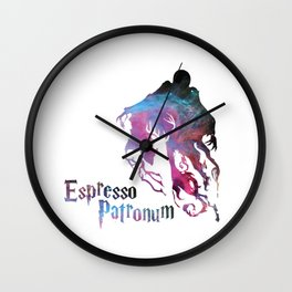 espresso patronum harry Wall Clock